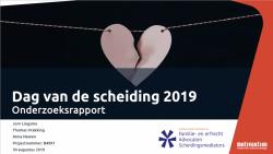 Onderzoeksrapport Dag van de scheiding 2019